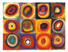 Farbstudie Quadrate by Wassily Kandinsky